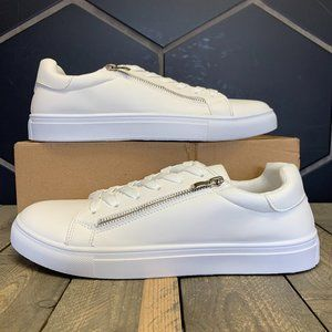 Womens Urban Originals Faux Leather White Side Zip